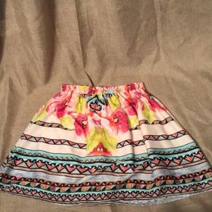 Everly Floral Tribal Skirt!